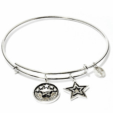 Chrysalis Petite Goddaughter Expandable Bangle in Rhodium Plate, CRBT0705SPSML