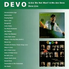 Devo Q:Are We Not Men? A:We Are Devo/Devo Live 2on1 CD NEW SEALED Jocko Homo+