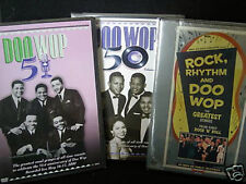 ROCK, RHYTHM, DOO WOP 50 51 PBS CONCERTS 6.5 HRS (3) DOUBLE LENGTH DVD BRAND NEW