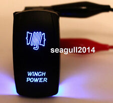 WINCH POWER ROCKER SWITCH for 4X4 ARB JEEP NISSAN HILUX ON/OFF SPST 5P BLUE LED
