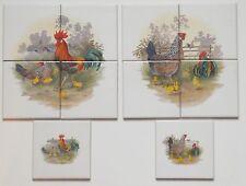 10x10 Fliesen Setpreis mit Huhn Hahn Geflügel von Bauernhof als Küchenfliesen
