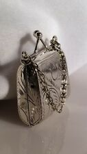 Vintage Sterling Silver Purse Pendant/Pill Box Locket. Purse Opens