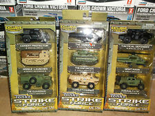 Tonka Strike Force Metal Diecast Exclusive Special Ops Vehicle 3 Pack Set
