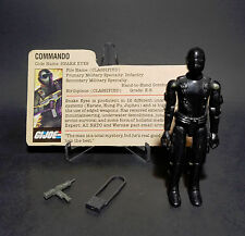 Hasbro GI Joe 1982 Straight Arm SNAKE EYES 100% Complete w/Filecard A