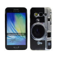 TPU Case f. Samsung Galaxy A3 (2015) Schutzhülle Tasche Cover Kamera Fotoapparat