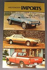 1982 Plymouth Champ Sapporo Arrow Pickup Postcard Brochure Excellent Original 82