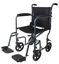 "19"" Transport Chair Portable Mobility Medical A226-00 Carex Foldable Wheelchair"
