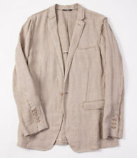 NWT $1575 DOLCE & GABBANA Raw-Edge Pure Linen Blazer Sport Coat 38 R One-Button