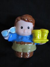 New Fisher Price Little People DAD FATHER Daddy Man w/ COFFEE CUPS & GLASSES HTF