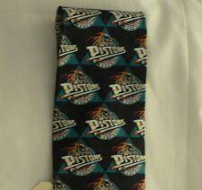 NBA Detroit Pistons Neck Tie by Ralph Marlin Sport 100% Silk No2