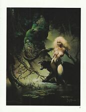 "1996 Full Color Plate "" Princess and the Panther "" Frank Frazetta Fantastic GGA"