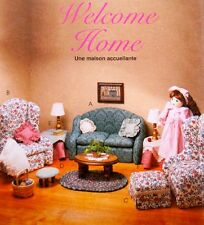 """McCalls 8775  18"""" Doll Furniture Pattern - Living Room Set Sofa Table Chair OOP"""