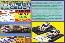 ANEXO DECAL 1/43 TOYOTA CELICA TURBO ST185 C.SAINZ N.ZEALAND 1992 WINNER (01)