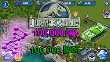Jurassic WORLD The Game Builder 100,000 DNA And Bucks package Android iOS park