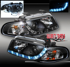 1995-1998 AUDI A4 B5 PROJECTOR LED HEADLIGHT BLACK 1997
