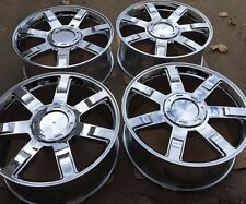 "SET OF FOUR 22"" CHROME WHEELS RIMS FOR CADILLAC ESCALADE EXT ESV BREND NEW"
