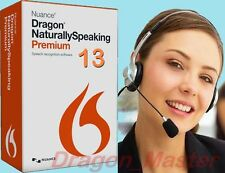 NEW Dragon NaturallySpeaking 13 PREMIUM 13.0 FREE Headset FAST SHIP, WIN 7-8-10