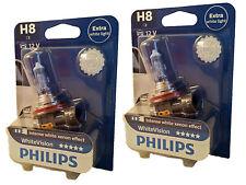 Philips H8 WhiteVision Intense white  PGJ19-1 3500K 2er UK ref.: 708 12360WHVB1