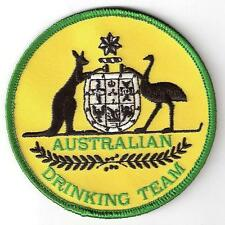 AUSTRALIAN DRINKING TEAM. Iron On Patch.Funny Aussie Emblem Design.Bucks Night