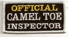 OFFICIAL CAMEL TOE INSPECTOR EMBROIDERED BIKER PATCH