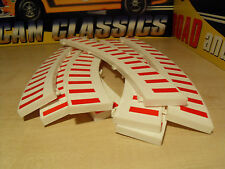 8x Classic SCX/Scalextric White & Red '8x Outer Borders' - Brand New.