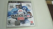 MADDEN 25 1989-2014 EA SPORTS PS3 PLAYSTATION 3 NFL FOOTBALL COMPLETE