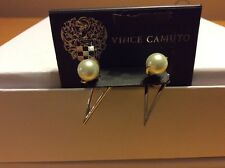 $28 Vince Camuto Pearl And Silver Tone Earrings Jackets (4) Ab 136