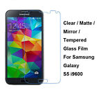 Tempered Glass/Clear/Matte/Mirror Screen Protector For Samsung Galaxy S5 i9600