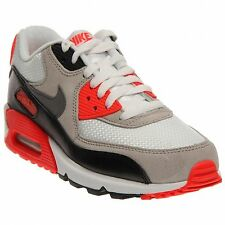 Boys' Nike Air Max 90 Prem Mesh (GS) White/Cool Grey/NTRL Grey/Black Size 6Y