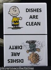 "Charlie Brown & Pigpen Clean / Dirty Dishwasher Magnet 2""x 3"". Peanuts Original"