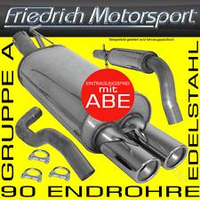 FRIEDRICH MOTORSPORT V2A ANLAGE AUSPUFF VW Golf 5 Plus 1.4+TSI 1.6+FSI 1.9 TDI 2