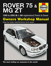 HAYNES WORKSHOP REPAIR OWNERS MANUAL ROVER 75 MG ZT S TO 06 REG PETROL & DIESEL