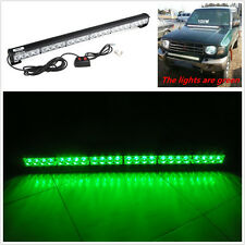 Car SUV 24LED Green Emergency Strobe Beacon Bumper Roof Lights Bar For GMC Jeep