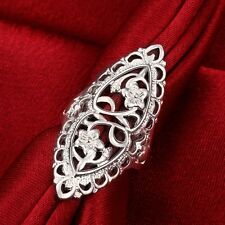 Charm Women 925 Silver Ring Fashion Jewelry Party Gift Size 8