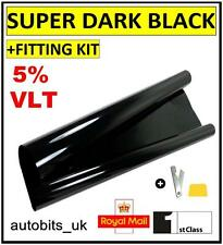 CAR WINDOW TINT FILM TINTING SUPER DARK BLACK  LIMO 5% 76cm x 3M
