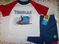 Thomas the Tank Engine #1 Outfit 2pc Shirt/Short Set Infant Baby Boy 24 Mos  NWT