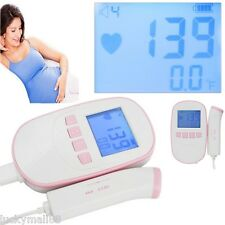 New Fetal Doppler 2M Probe LCD Ultrasound Prenatal Test Baby Heart Rate Monitor