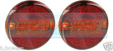 PAIR OF 12V/24V LED REAR 140mm BOLT ON HAMBURGER TAIL LAMPS LIGHTS STOP/TAIL/IND