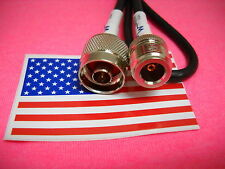 """20""""  N male to N female straight crimp RG58 jumper pigtail Cable  MADE IN USA"""
