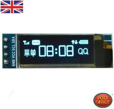 "IIC I2C 0.91""128x32 Blue OLED LCD Display Module 3.3v 5v FOR AVR Arduino"