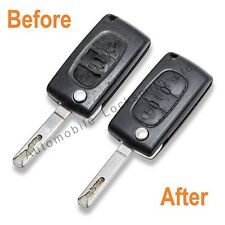 COMPLETE REPAIR for Peugeot 107 207 307 308 407 2 Button Remote Flip Key SERVICE