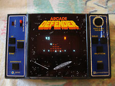 ARCADE DEFENDER Vintage 1981 Video Game Entex HandHeld Portable Travel Retro Fun