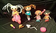 Lalaloopsy large lot of dolls with remote control scooter