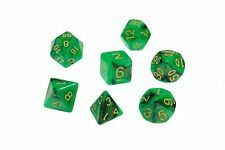 Dice Nebula Green Black Set of 7 Dice