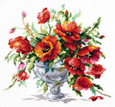 Cross Stitch Kit Red poppies