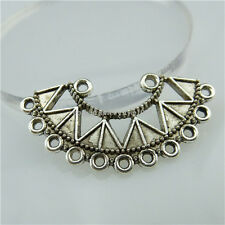 13542 25PCS Vintage Silver Semicircle Triangle Dangle Connector Earring Making