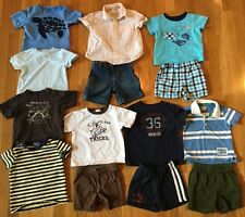 LOT OF BOY OUTFITS POLO GYMBOREE CHILDRENS PLACE GAP 18 MONTHS SHORTS SHIRTS