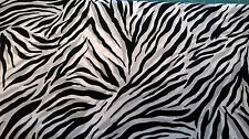 Timeless Treasure cotton Fabric Zebra stripe Skin pattern FQ black white