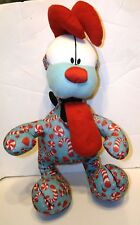 """CHRISTMAS CANDY CANE GARFIELD ODIE PUPPY DOG PEPPERMINT TOY FACTORY PLUSH 16"""""""