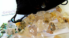 Crystal BuddyPak Rutilated Quartz Chips 2oz. Pocket Pouch Info Card Memory ADHD